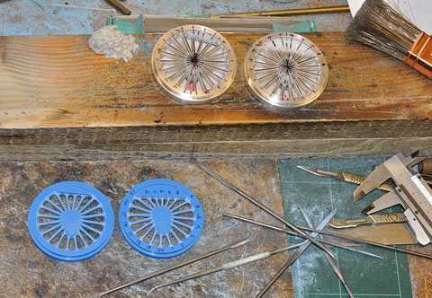 Aluminium discs first stage and resins second stage