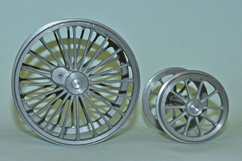 Photo of machined wheels